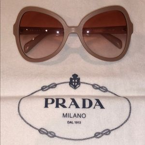 AUTHENTIC PRADA Rose gold pink sunglasses